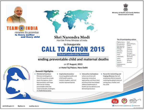 PM inaugurates Call to Action Summit 2015