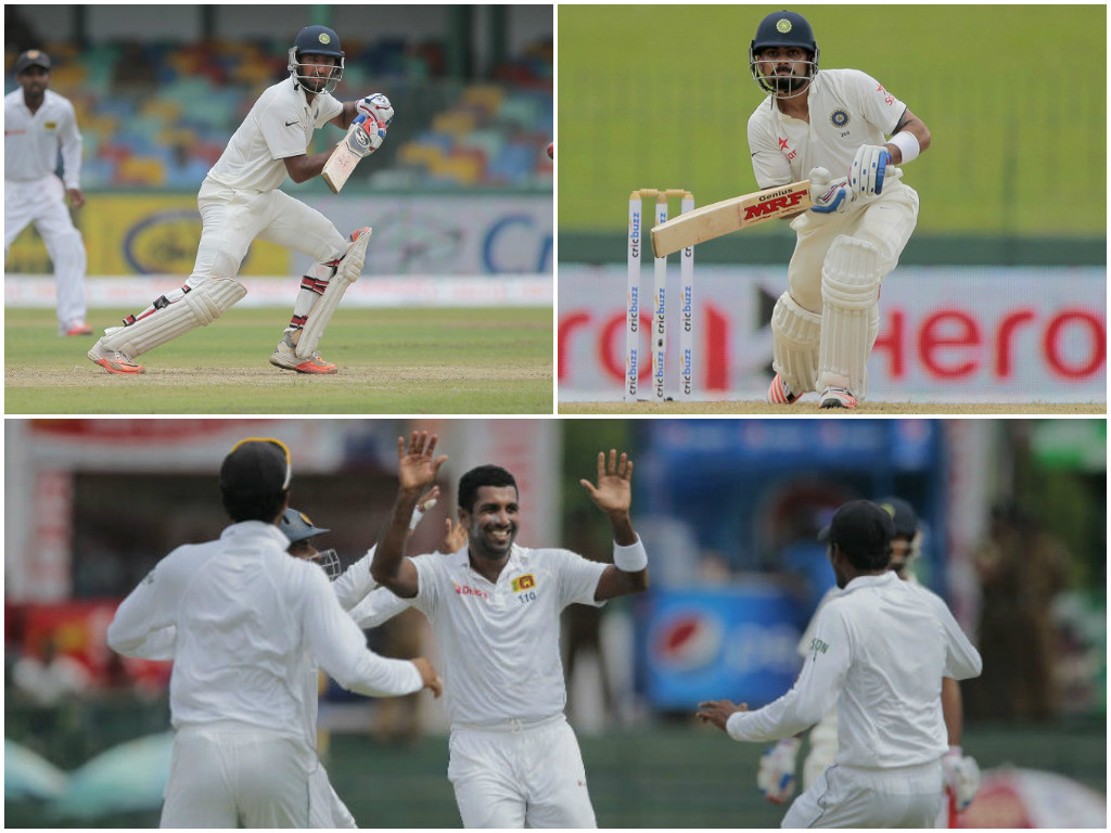 India 50/2 after rain-hit first day of third Test vs Sri Lanka