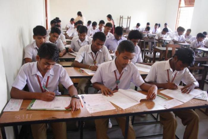 A file picture of Students appearing for High School Certificate exam