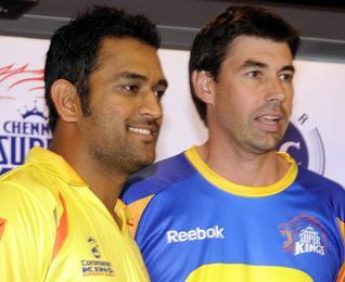 dhoni and fleming