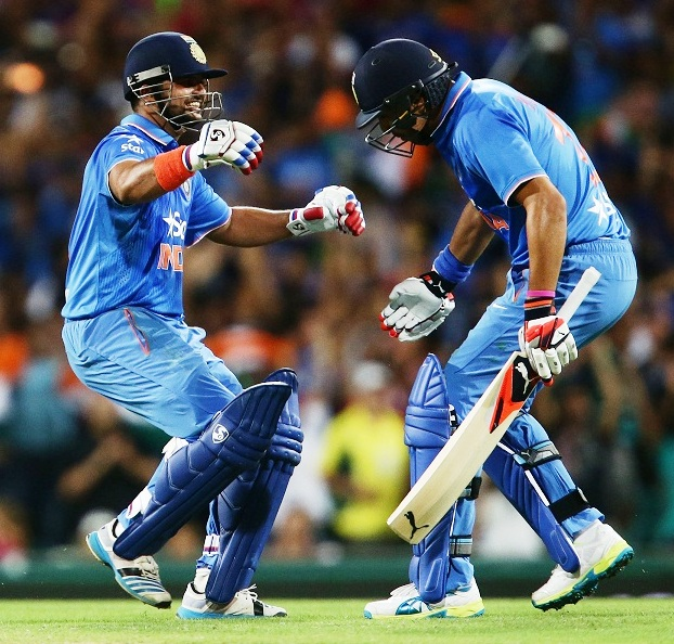 during the International Twenty20 match between Australia and India at Sydney Cricket Ground on January 31, 2016 in Sydney, Australia.