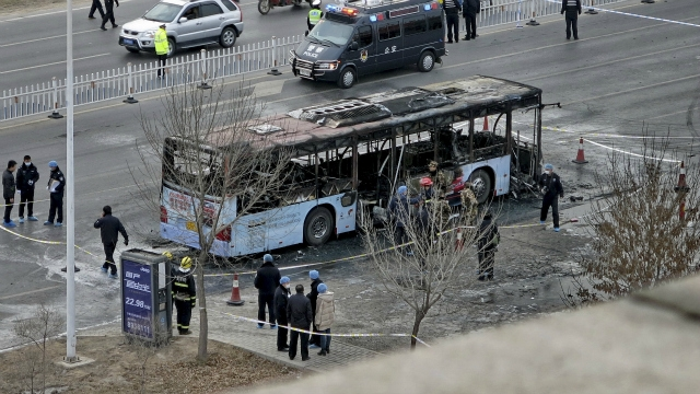 14 killed, 32 injured in arson attack on bus in China