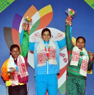 India sweep cycling gold medals on third day again
