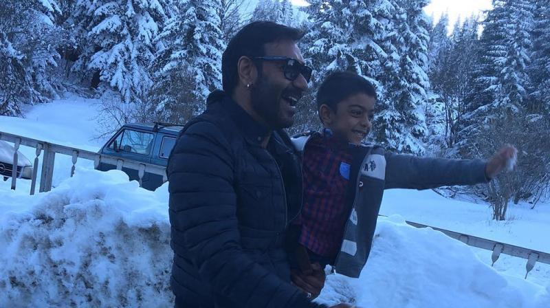 Kajol and kids join Ajay Devgn in Bulgaria on the sets of Shivaay