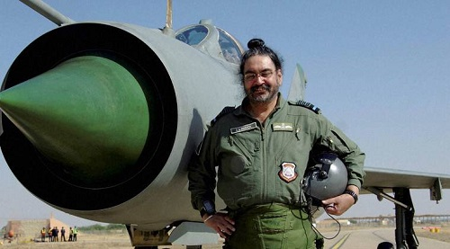 Air Chief Marshal BS Dhanoa after a sortie
