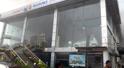 Fire-mishap-at-Maruti-showroom