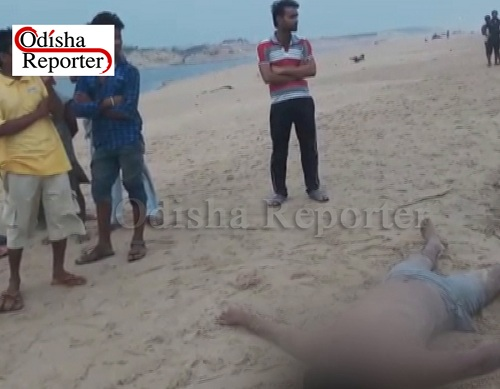 Dead body in Puri Beach