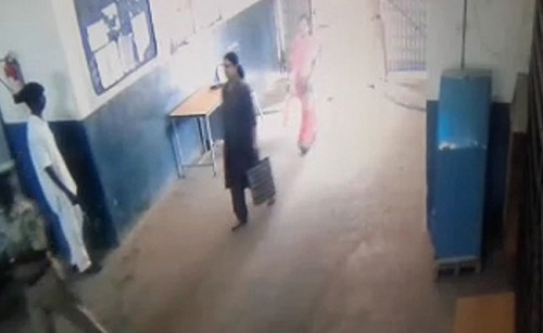 Footage clip of Sasikal entering the jail