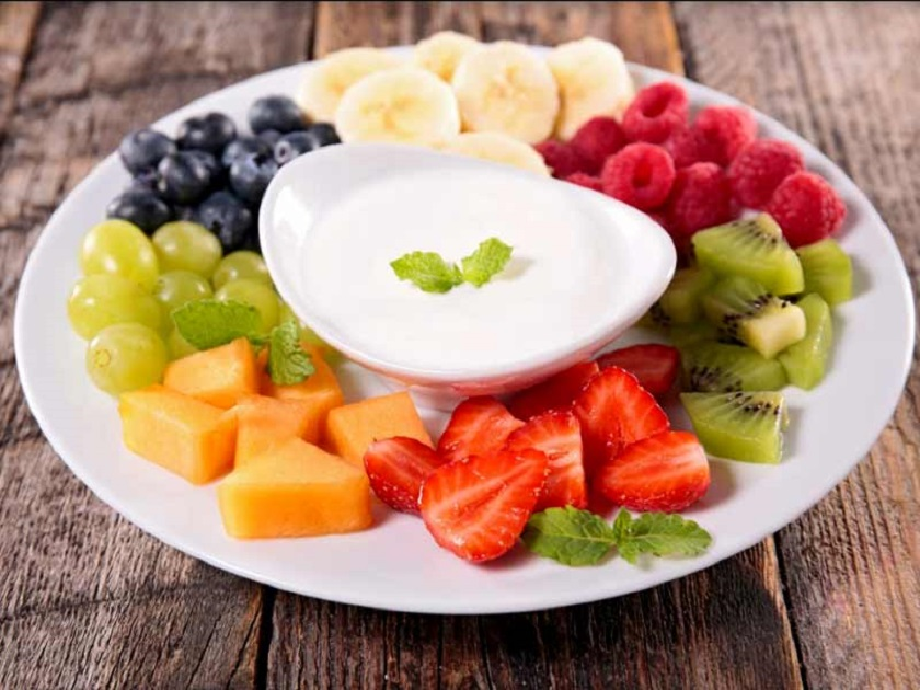 Curd-and-fruits