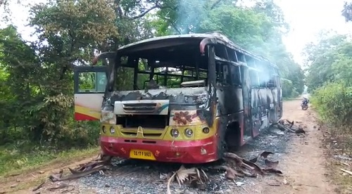 Bus-burnt-down-by-Maoists