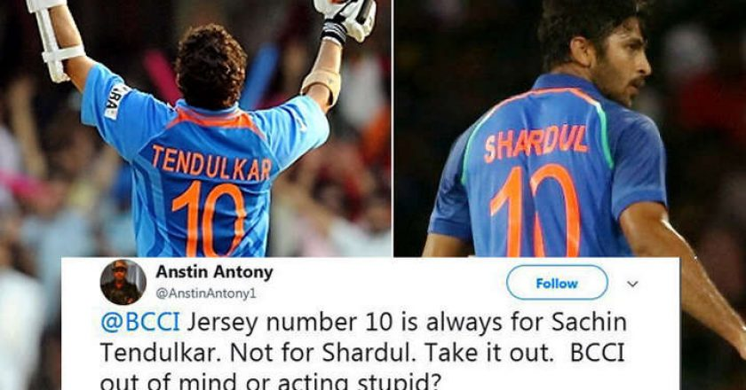 Shardul-wearing-Sachin's-number-10-jersey