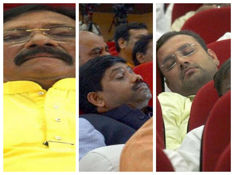 Ministers-sleeping-while-deliverance-of-President's-speech