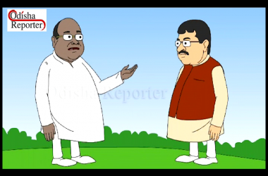 Cartoon-sketches-of-Dharmendra-Pradhan-and-Damodar-Rout