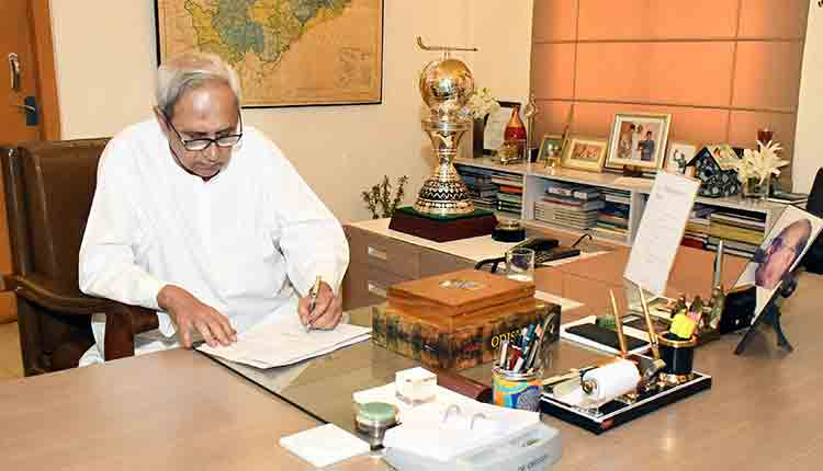 Naveen patnaik in the office
