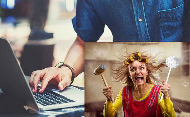Women Angry On Husband's Work From Home